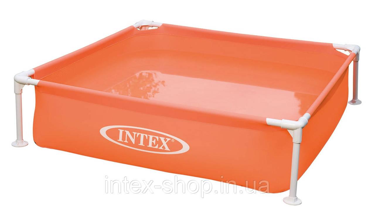 Детский каркасный бассейн Intex 57171 (122x122x30 см.) (Оранжевый)