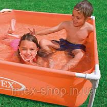 Детский каркасный бассейн Intex 57171 (122x122x30 см.) (Оранжевый), фото 3