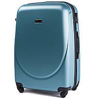 Большой пластиковый чемодан Wings 310 на 4 колесах голубой, фото 1