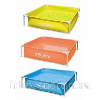 Детский каркасный бассейн Intex 57171 (122x122x30 см.) (Желтый)