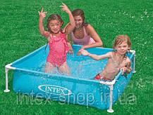 Детский каркасный бассейн Intex 57171 (122x122x30 см.) (Желтый), фото 2