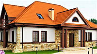 Двухэтажный дом из профилированного бруса 17х12 м
