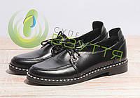Шкіряні жіночі туфлі арт 10121 ч/до розмір 40,41, фото 1