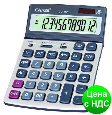 """Калькулятор """"EATES"""" DC-1128 (12 разрядный, 2 питания), фото 2"""