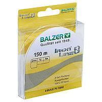 Шнур Balzer Iron Line 8x Yellow 150м 0.14мм 10,7кг (желтый)