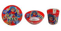 """Стеклянный набор детской посуды с любимыми героями   """" Бейблэйд ( Beyblade )  """" Бейблейд"""