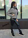 Женский вязаный свитер из полушерсти с высоким горлом 7sv411, фото 2