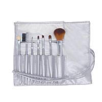 Набор кистей для макияжа в чехле серебристый