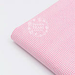 Ткань хлопковая с бело-розовой клеточкой 2 мм №1581, фото 6