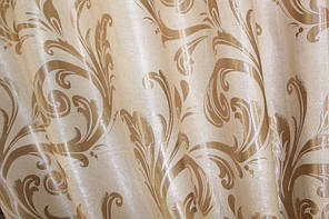 """Двусторонняя ткань блэкаут """"Лилия"""". Высота 2,8м. Цвет бежевый. 074ш"""
