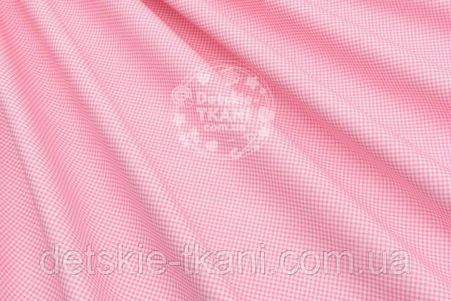 бязь с розовой клеточкой