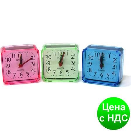 Часы-будильник 6621 маленькие квадратные 2.6*5.5*5.8 см., фото 2