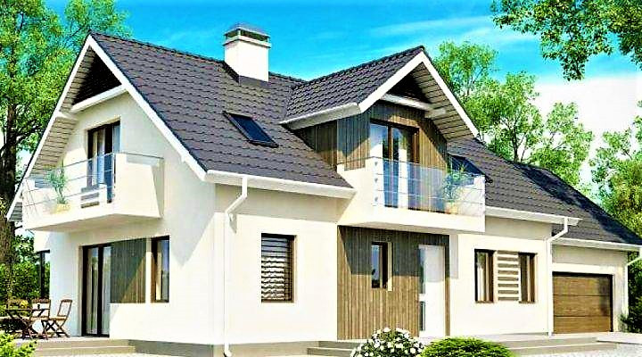 Дом деревянный из профилированного клееного бруса 19х9 м