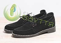 Замшевые  женские туфли   арт  10121 ч/з  размер 37,41, фото 1