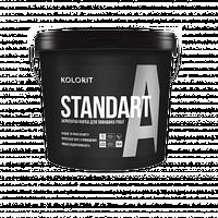 KOLORIT STANDART А LA 9 л атмосферостойкая фасадная краска на акрилатной основе