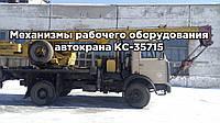 Механизмы рабочего оборудования автокрана КС-35715