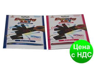 Гравюра-закладка 8501Q (17*21.1 см.) 6 закладок с веревочками + металлическое перо
