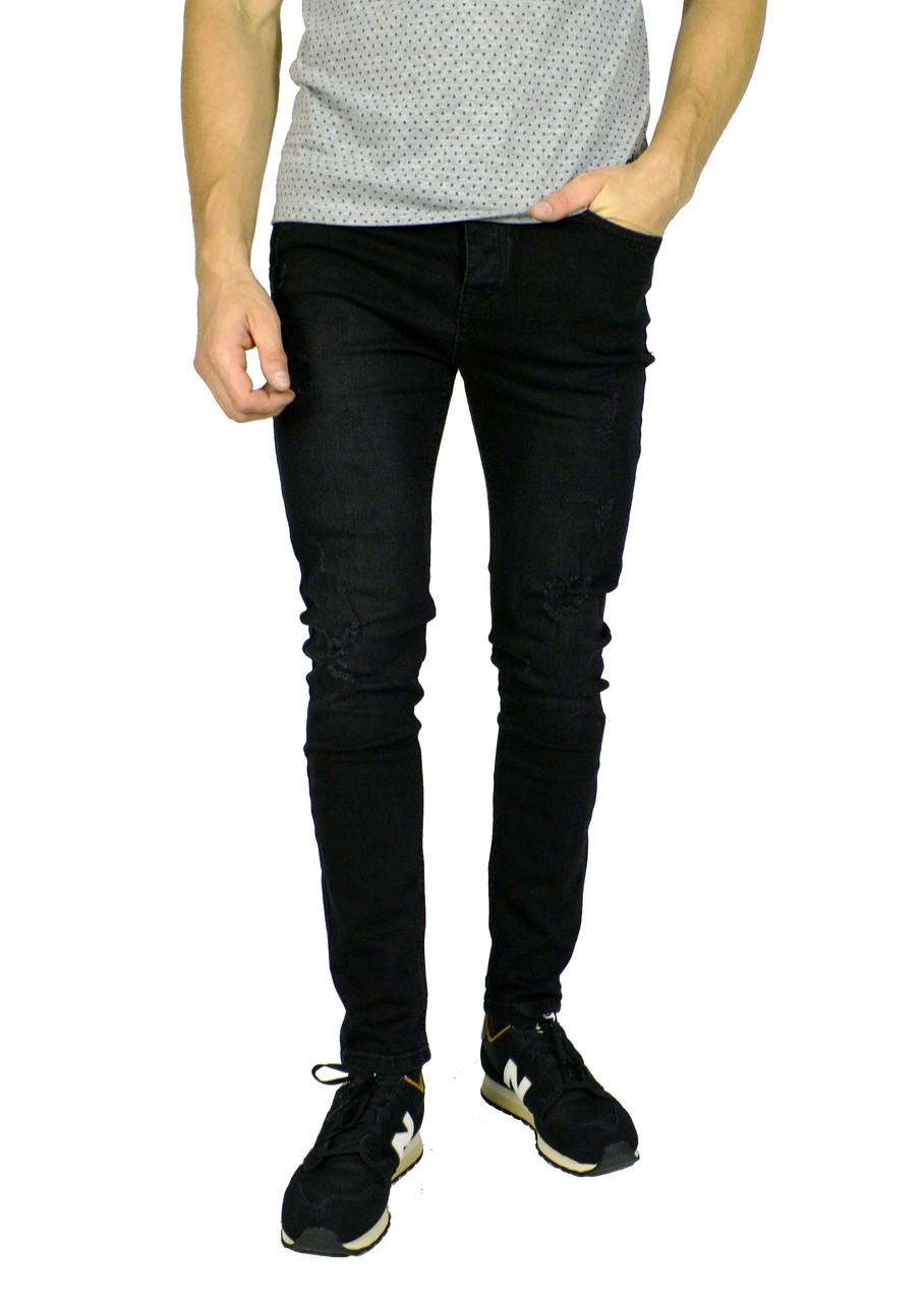 Черные мужские джинсы зауженные DIESEL