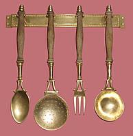 Антикварный Кухонный набор бронза Германия