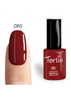 Гель-лак Tertio №90 красно-коричневый с микроблеском 10 мл