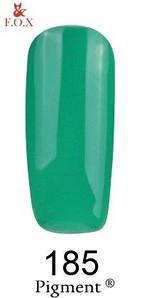 Гель-лак F.O.X. 6 мл Pigment 185 малахитовый, эмаль