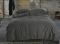 """Комплект постельного белья """"Сатин однотонный DARK GREY, №240"""", фото 1"""