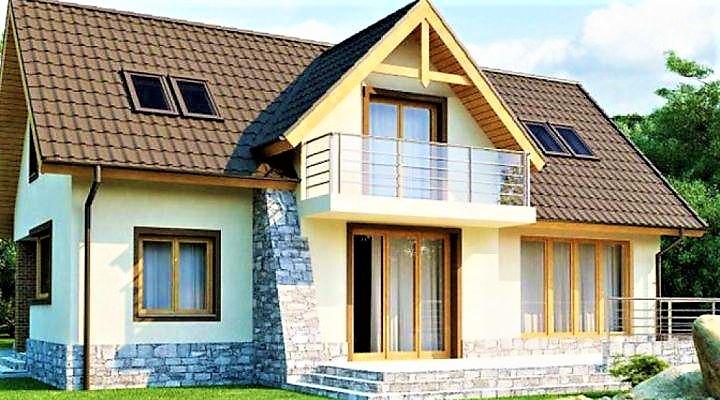 Деревянный дом из профилированного клееного бруса 18х13 м