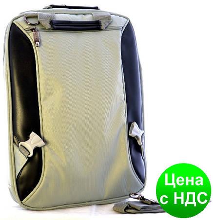 """Рюкзак-сумка для ноутбука Josef Otten 3902-А """"Черный-Серый"""", фото 2"""
