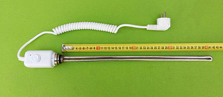 """Мідний тен(хром) 1200W / різьба 1/2"""" з електронним термостатом для рушникосушок,радіаторів Tenko,Україна, фото 2"""