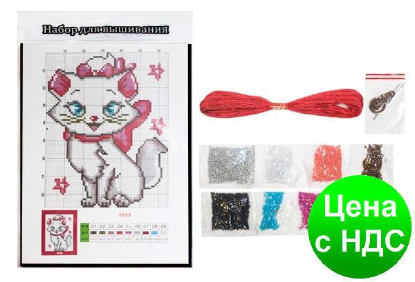 """Набор для вышивания бисером """"Кошка"""" 20.5*27.5 см., фото 2"""