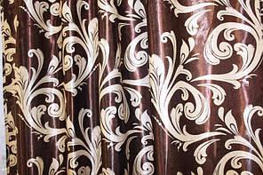 """Двусторонняя ткань блэкаут """"Лилия"""". Высота 2,8м. Цвет коричневый с бежевым. 101ш"""
