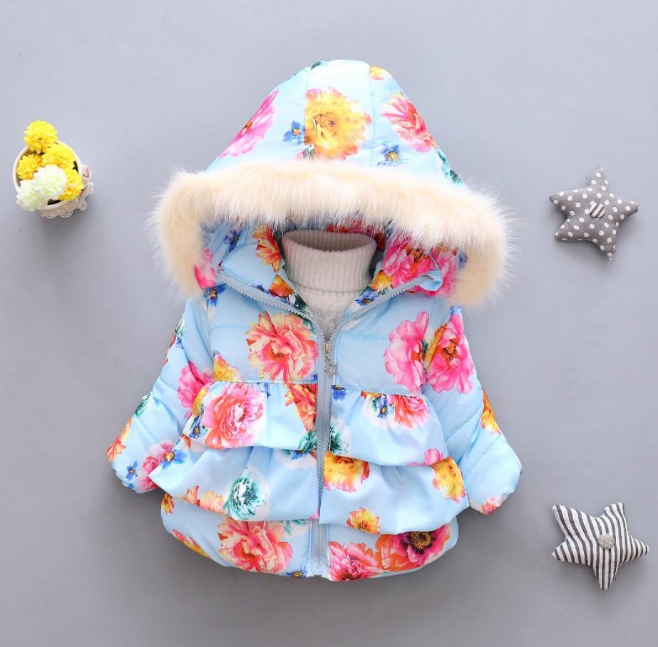 Детская куртка на синтепоне для девочки