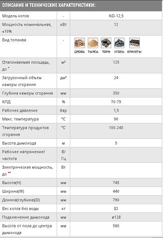 Твердотопливный котел Kotlan КО 12.5 кВт.Бесплатная доставка!, фото 2