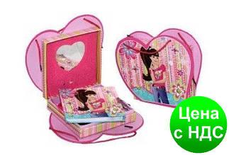 """Блокнот на замке D480225 """"Девушка"""" (сумочка)+зеркальце+музыка в подарочной упаковке"""