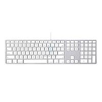 Расширенная проводная клавиатура Apple Wired Keyboard + Numeric Keypad (Раскладка - US, гравировка - RU / UA), без картонной упаковки