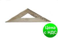 Треугольник деревянный 14 см. (45*45*90) ТД-14-454590