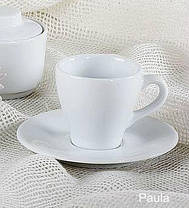 Чашка с блюдцем фарфоровая 200мл Lubiana ПАУЛА 1702/1712, фото 2