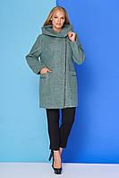 """Женское демисезонноеоливковое пальто """"М 804"""""""