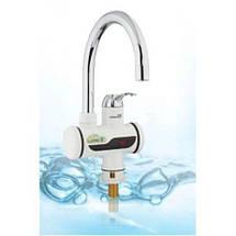 Проточный водонагреватель Delimano с LED экрано мгновенный нагреватель воды Делимано мини бойлер кран смесител, фото 2