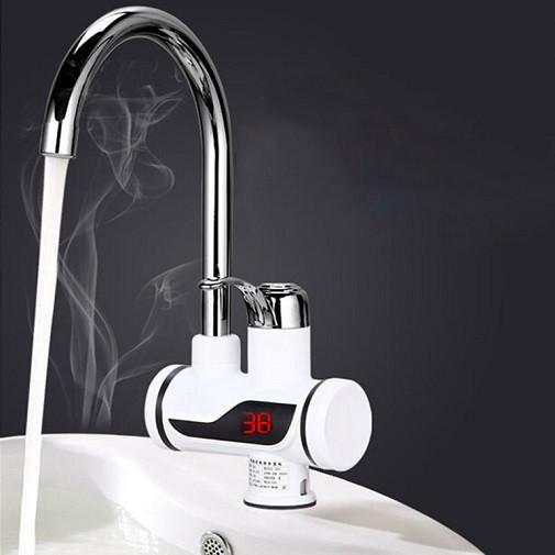 Проточный водонагреватель Delimano с LED экрано мгновенный нагреватель воды Делимано мини бойлер кран смесител