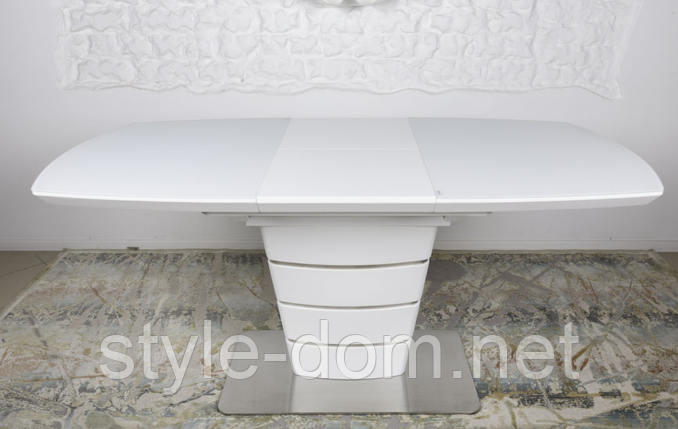 Стол модерн NL- ATLANTA  1120/160*80*76cmH) белый, фото 2