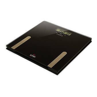 Напольные весы Ga.Ma, максимальный вес 150 кг., черные с золотыми вставками