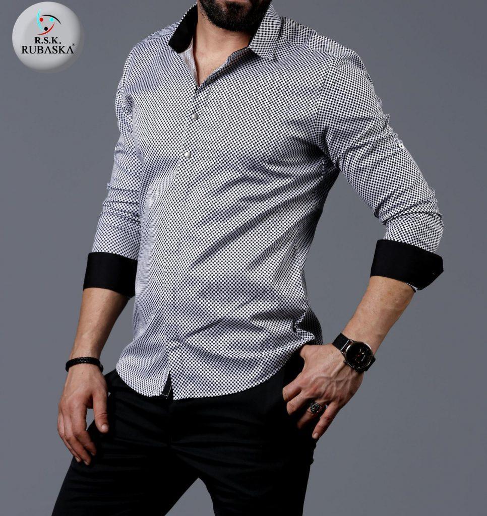 41a5fbbea4d Мужская Серая Рубашка с Длинным Рукавом — в Категории