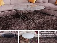 Стеклянный журнальный стол NL- COLOMBES (φ100*47*0.8) белый глянец