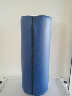 Валик для массажа Ukrestet, круглый, синий