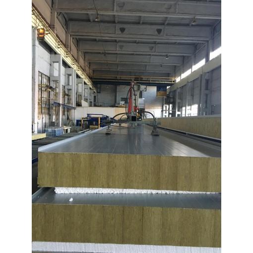 Сендвич-панель стеновая МеталПроектСтрой из пенополиуретана 120 мм металл 0,7 мм