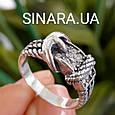 Стильное серебряное кольцо в виде ремешка - Женское серебряное кольцо Ремешок, фото 2