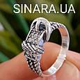 Стильное серебряное кольцо в виде ремешка - Женское серебряное кольцо Ремешок, фото 4