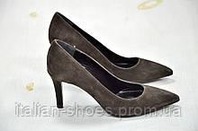 Туфли замшевые коричневые Gio -761