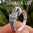Стильное серебряное кольцо в виде ремешка - Женское серебряное кольцо Ремешок, фото 3